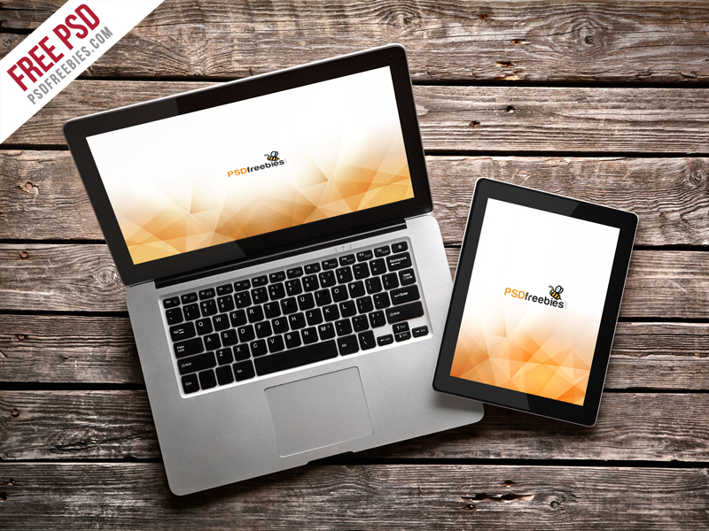 7d57c0437bbadadbbf50304eed164480 - Freebie : Macbook Pro And Ipad Mockup Template PSD