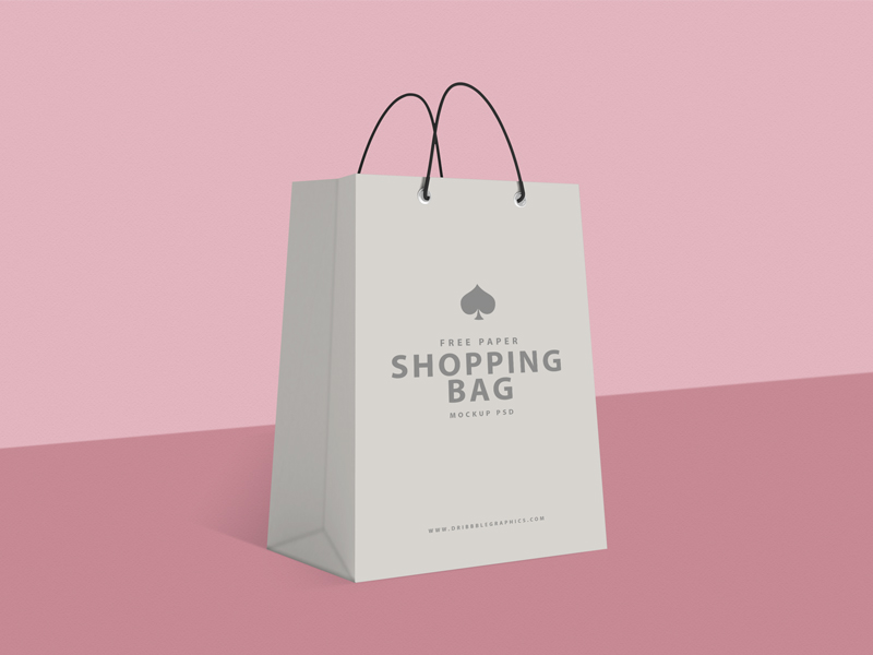 7deeb936f38b75537f558070f08fd1e1 - Free Paper Shopping Bag Mockup
