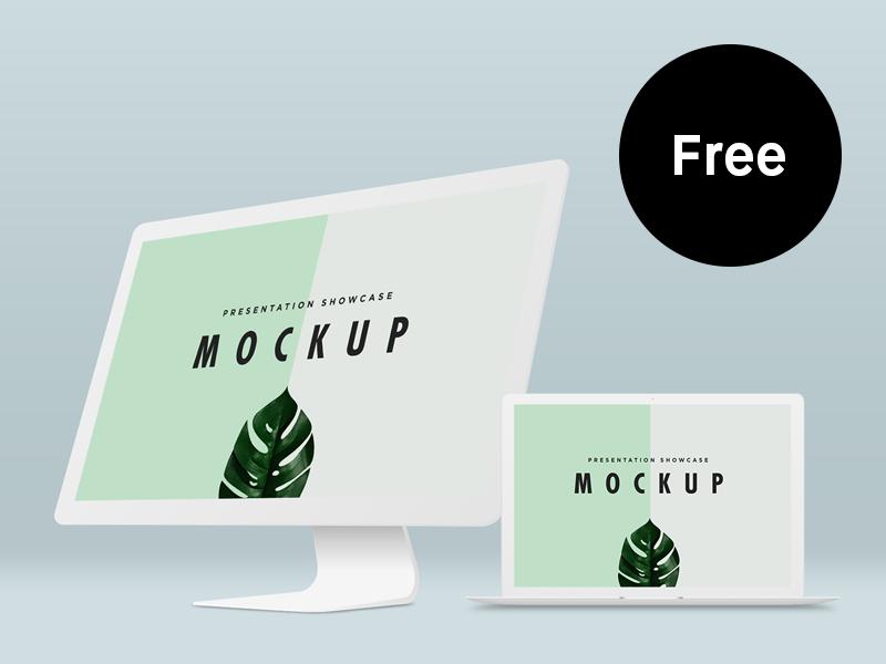 7e0a0790da5f6e39f20223d747e18cbc - Free Macbook Pro & iMac Mockup Template