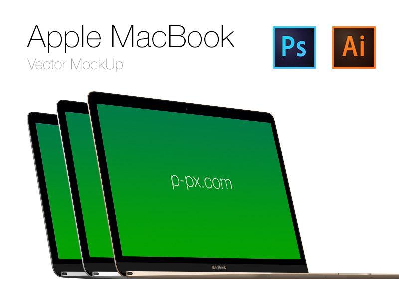7e8819ceea8215ad214d0bf14271a7ea - Free Apple  brand new MacBook Vector PSD + AI (All Colored)
