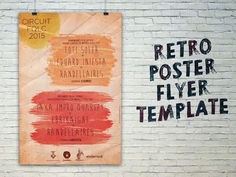 7f067b15f543f1b7b810fdda86ed72d8 - FREE Retro Poster Flyer Template
