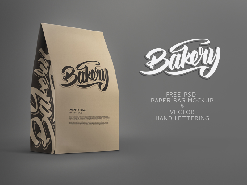 811031b4809c4c0728a8effbbeac5c33 - Free Paper Bag Mockup and Free Bakery Lettering