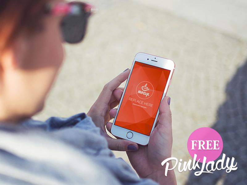 8269e94f8ded703add4d91e5a42af75b - Free PSD Mockup iPhone Pink Lady