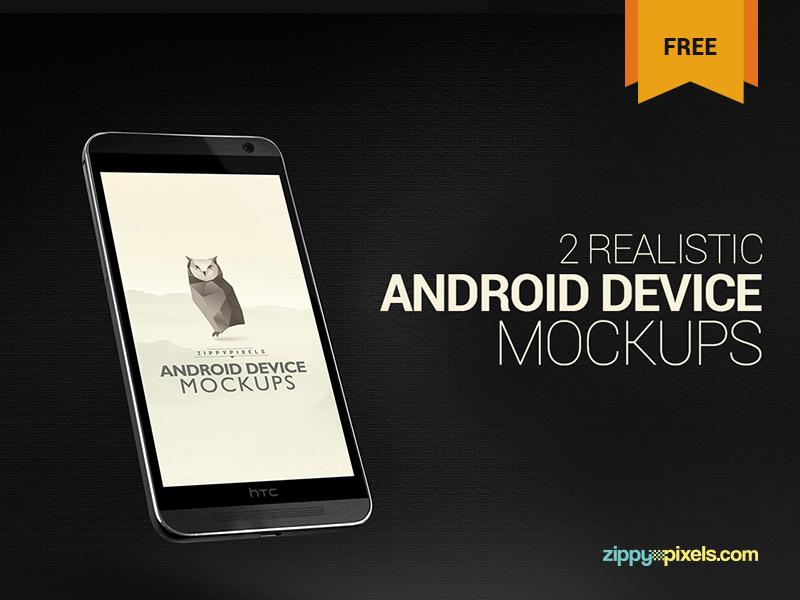 838f4b308771e0f28f44b06c6235d413 - 2 Free Android Device Mockups – HTC ONE M8