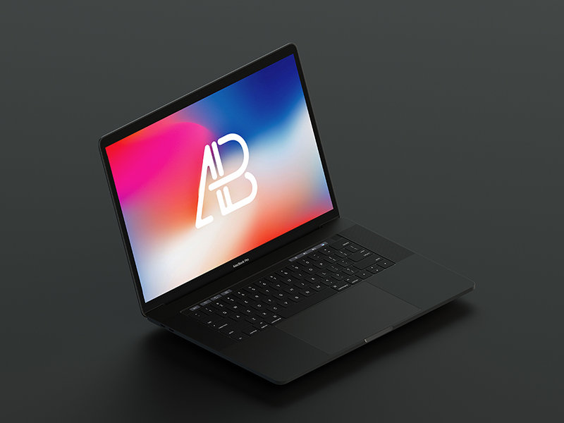 83fa1f4ef6e3e46bce522c9dadb44388 - Isometric 2017 MacBook Pro Mockup