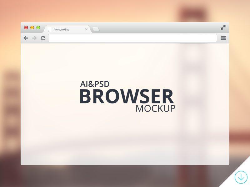 84e7cdca9903d5359ba1725f0f0214b3 - Freebie - Browser Mockup