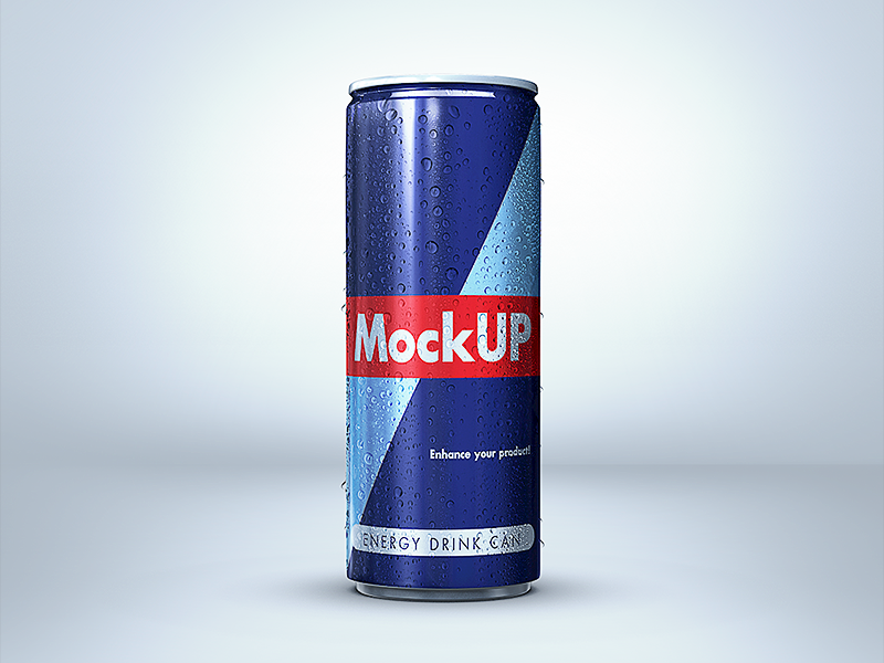 8716516dfd3d853927ab3a3c5930820b - Energy Drink Can Mockup