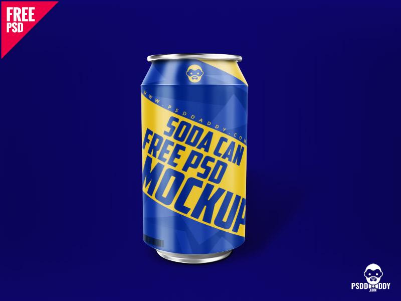 889cdf25255544395c222b2f235c2cbe - Soda Can Free PSD Mockup