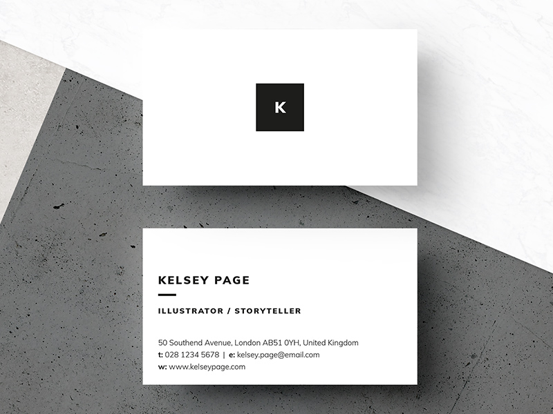 889dba0c7cc92550237aa003f555abe9 - Business Card - Kelsey