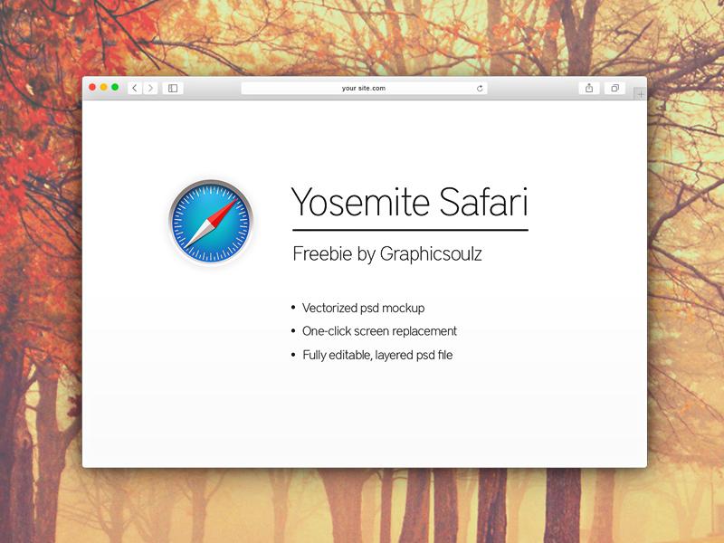 8a28f6d3b4763e0166107274a0683591 - Free Yosemite Safari Mockup