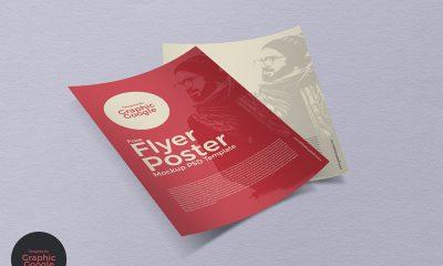 8ad90ff0eeaaf044f0841f9c17c25ba9 400x240 - Free Flyer Poster Mockup PSD Template