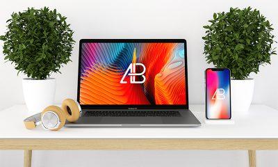 8be6dcbd406d0ccedff1d04299064526 400x240 - Modern iPhone X And MacBook Pro Mockup Vol.2