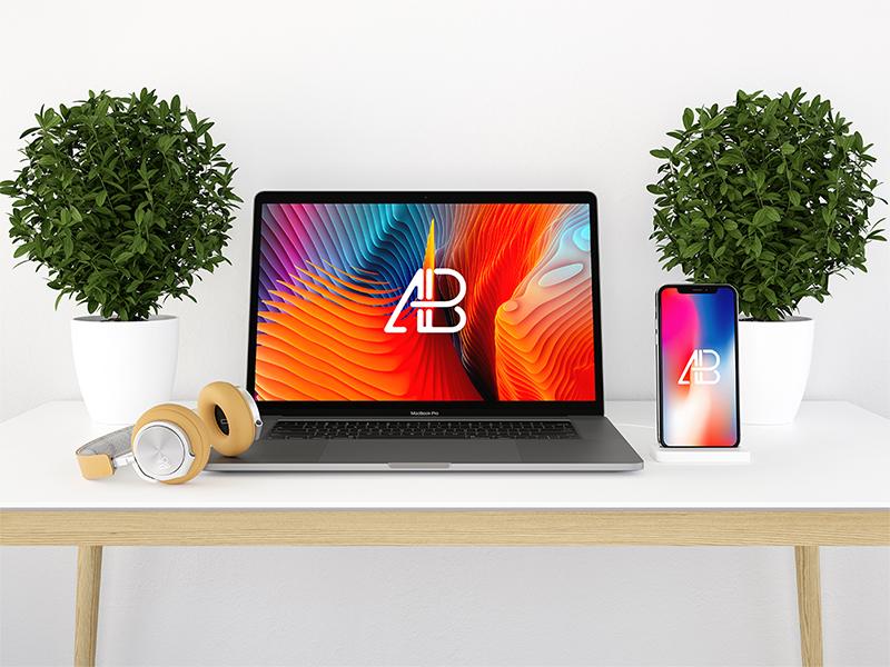8be6dcbd406d0ccedff1d04299064526 - Modern iPhone X And MacBook Pro Mockup Vol.2