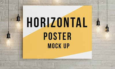8f2ff4d568cf01ffb9c6a40e7e97b8cc 400x240 - Poster mock up template Free Psd