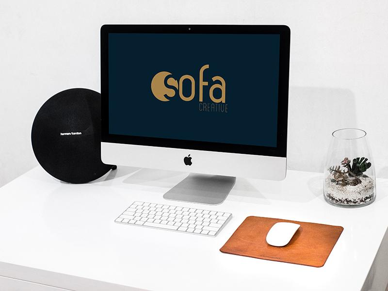 8f5ae7f806f02b75ce38837e34f44a4b - iMac On White Desk - Free Mockup