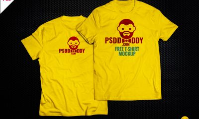 8fe004176edc805c6c017c66aa55e581 400x240 - T-Shirt Mock-up Free PSD Download