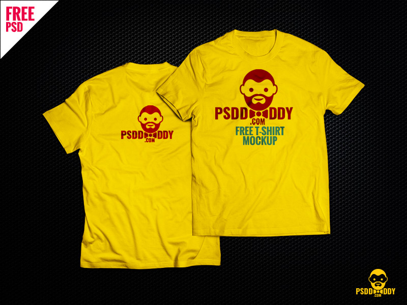 8fe004176edc805c6c017c66aa55e581 - T-Shirt Mock-up Free PSD Download