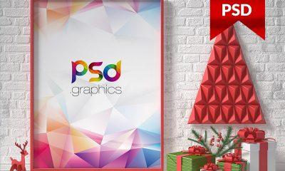 901a2ecf533c1501428275797bf27471 400x240 - Christmas Poster Flyer Mockup PSD