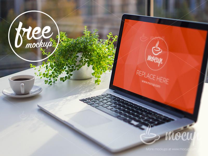 91a2dfd4bd747f4238031f332b747786 - Free PSD Mockup MacBook Office