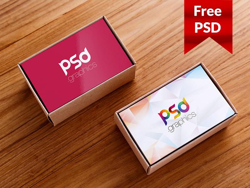 92dfe7f9d7b076421e0b8e9eb2af72f4 - Business Card Box Mockup Free PSD