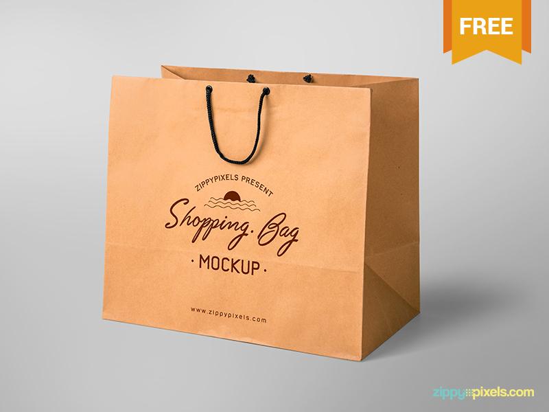 9461748a307c8defc655f9f82a7f5371 - Free Shopping Bag Mockup