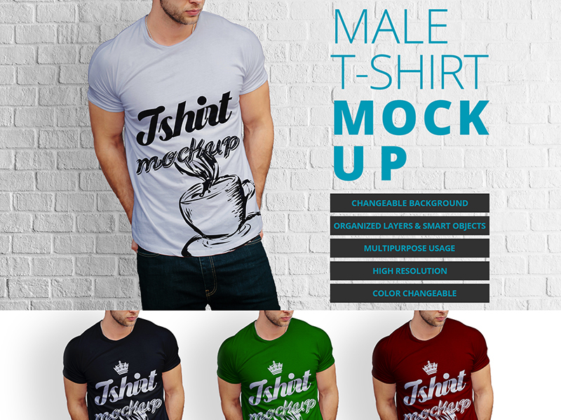 947db364eae87fadcc717af91229f2dc - Male t-shirt mock up design Free Psd