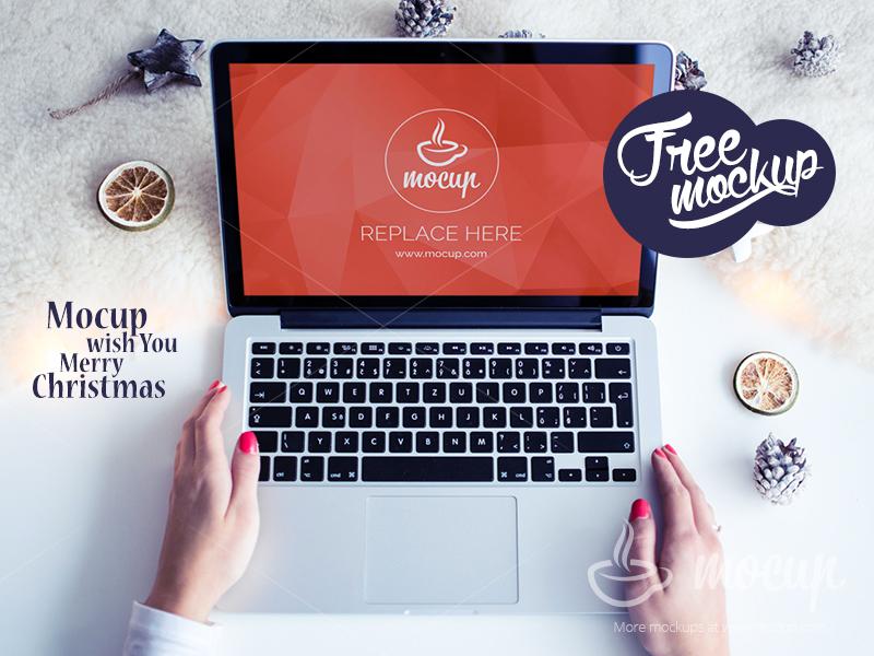 94a4e88d6d3ef973d5c3c8f3031d20fa - Free PSD Mockup MacBook Pro White Christmas