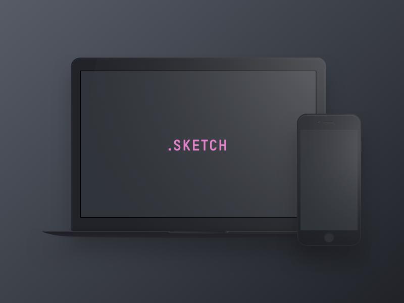 98c59d21fbd2a327fc30440f1998bf62 - Dark Devices - Free Sketch Mockup