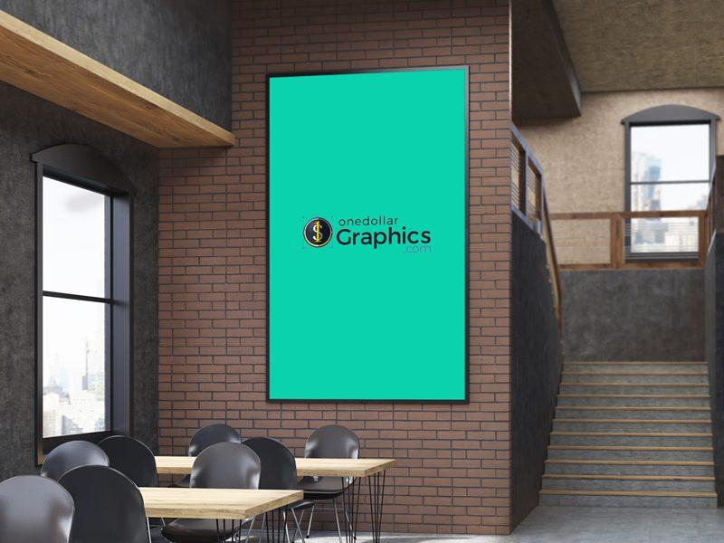 9900e77000da7f9558cf6978b3f067c6 - Free Indoor Food Restaurant Menu Poster MockUp Psd