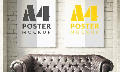 9ab8174909c10191b4e1ee956494a984 400x240 - Poster mock up template Free Psd