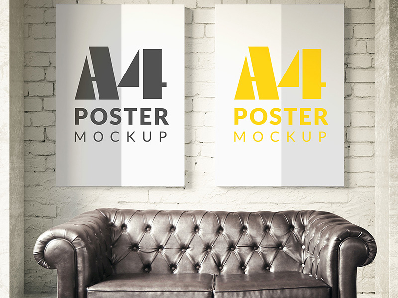 9ab8174909c10191b4e1ee956494a984 - Poster mock up template Free Psd