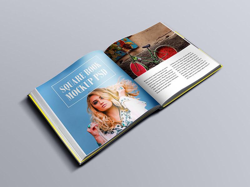 9b23cec3559684444b85e403f92d3c12 - Square Book Mockup