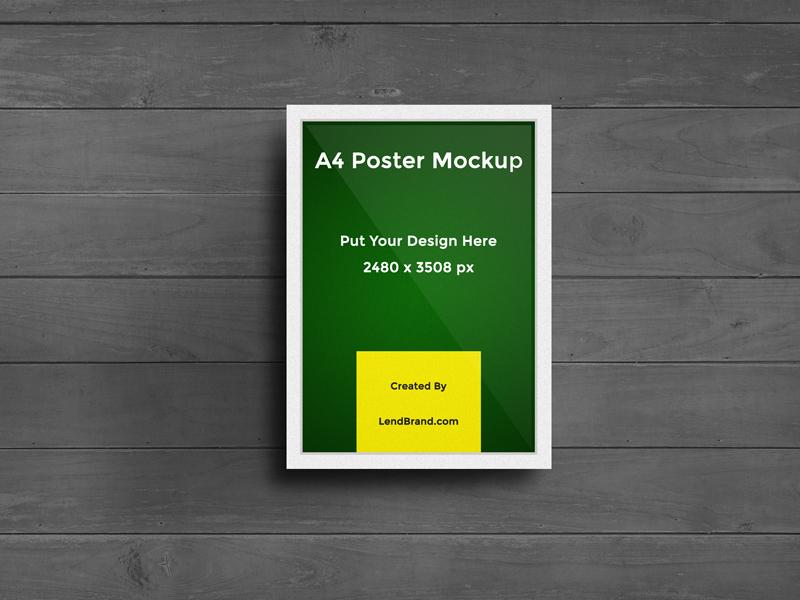9cab642ed7cbfd1a39ba2c5edbf772f5 - Free A4 Poster Mockup