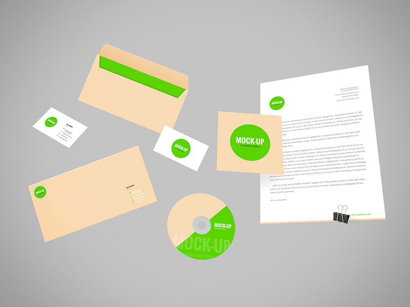 9d58a8efe9b81b67e26dfe465306ed1e - Freebie - Flying Stationery PSD Mockup