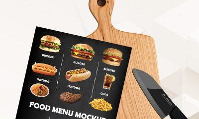 9f07f8195f086c681f44ae5f624bd089 400x240 - Free Food Menu Cutting Board Mockup Psd