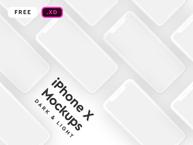 9fc10d7bb4b5b7740d8e989566a93892 - iPhone X Mockup for XD - Freebie