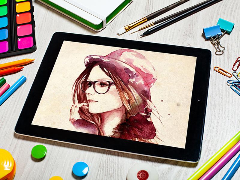 a3c44fec31b97f6a6d9f19b2d9df2e8c - Free Artist Tablet Mockup