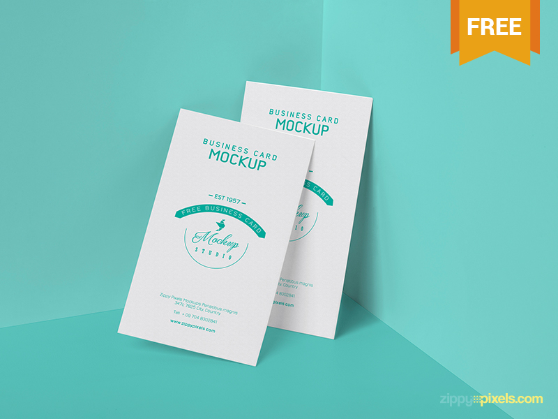 a50ad409a76455e1281813610f4c4320 - Free Visiting Card PSD Mockup