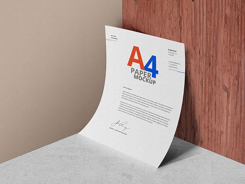 a7516177a5543fe03a063d03b16e3537 - A4 Paper Psd Mockup Template
