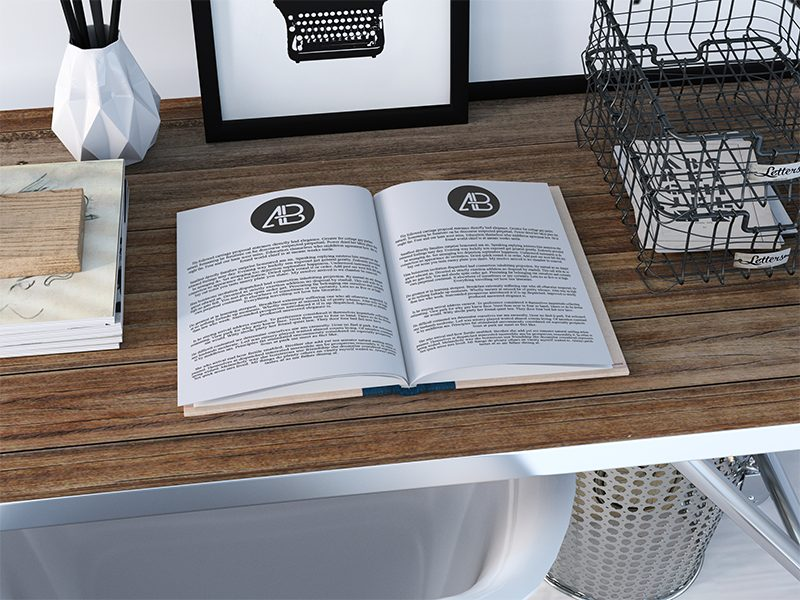 a99d5159280eaa86926cf13ef14d7428 - Realistic Open Book Mockup