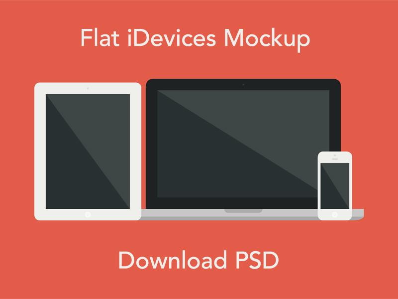 abbdbf1d230c81165f59fdaa959f939e - Flat iDevices Mockup PSD