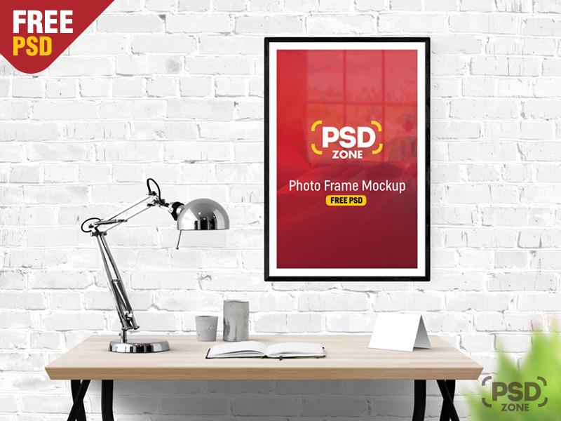 ac3465dd1f028eb6ae23998c8cb5c736 - Photo Frame Mockup Free PSD