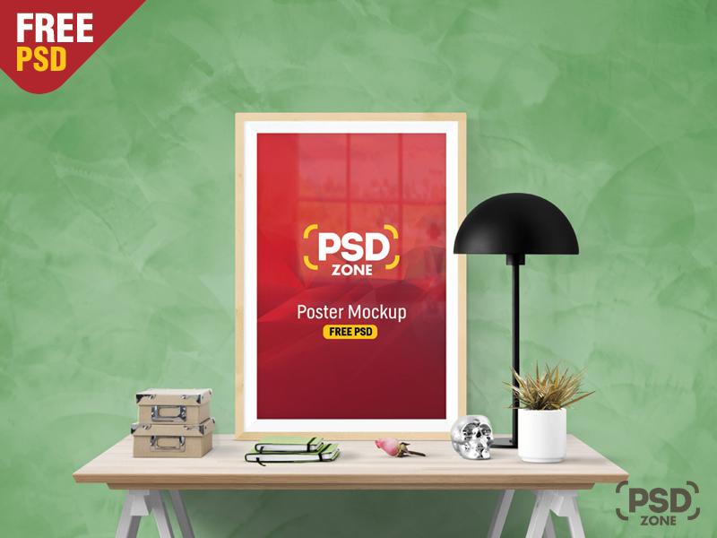 ac56c62b5182a23657cad6c6c332b6c6 - Poster Frame Mockup Free PSD