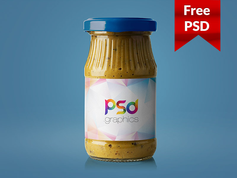 ace6377695879b9485118b2eb147fce2 - Mustard Jar Mockup Free PSD