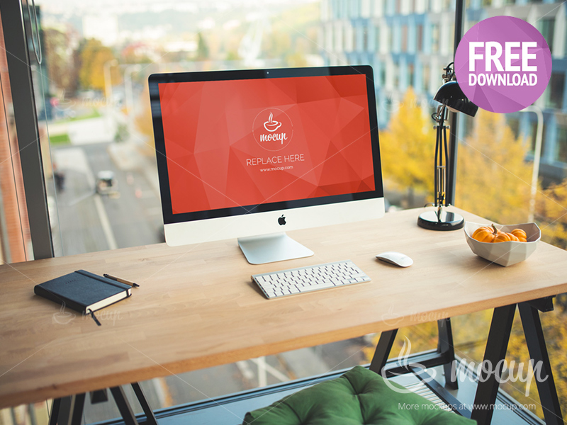ad9baa58be7f51a21ce48d9f9eace1dd - Free PSD Mockup iMac Business office
