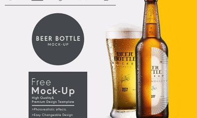 ae5c37d1347b9354a120faa36a2da39f 400x240 - Free beer bottle packaging mock up psd template