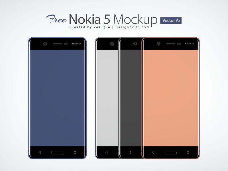 af6a26396b839d7499349a8b6af99f27 - Free Nokia 5 Android Smartphone Mockup In Ai & Eps Format