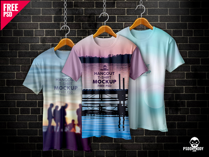 afa1f691b382e9e02632843e8b939aaf - Hangout T-Shirt Mockup Free PSD