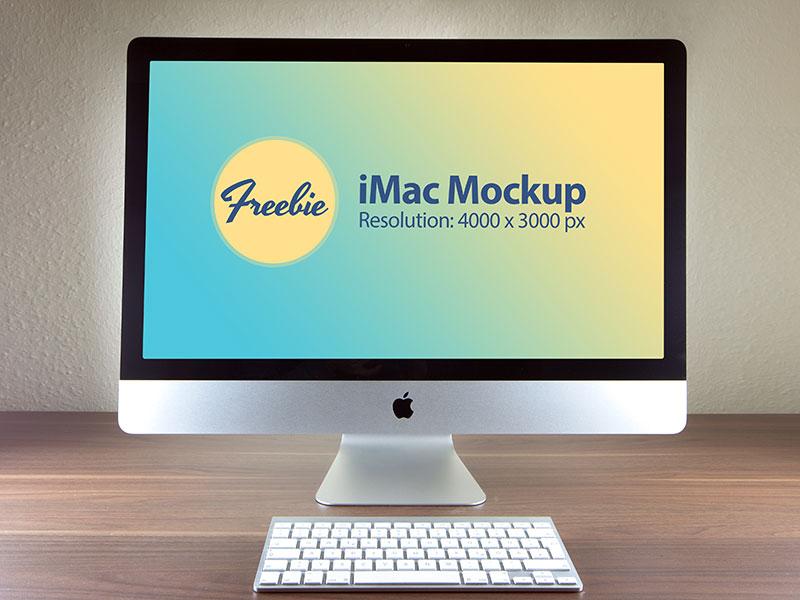 b101afff711608fd22bd24f3f5a525d9 - Free Apple iMac Photo Mockup PSD File