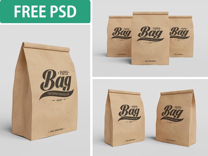 b26f00f3f46bf1b667cbe5d98a2730ee - Paper Bag PSD Mockups (FREE PSD)